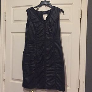 M.S.S.P. black pleather party dress. Gently used.